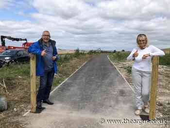 Path linking Woodingdean and Falmer re-opens to public