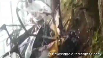 Army chopper crashes in J&K's Udhampur