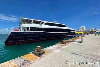 México: Muelle Fiscal de Isla Mujeres recibe pruebas de atraque de barco del Grupo Xcaret - PortalPortuario