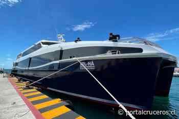 México: Barco Xel-Ha realiza pruebas de atraque en Isla Mujeres - https://portalcruceros.cl