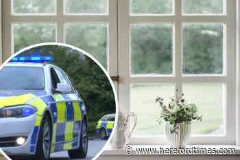 Banned Herefordshire man tried to climb through bedroom window