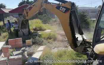 Llevan a cabo el desmonte del terreno para el Banco del Bienestar en Matamoros - Noticias del Sol de la Laguna