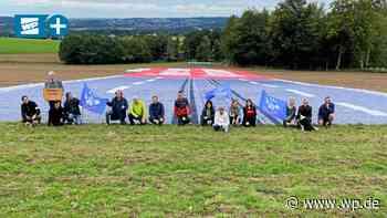 In Menden jetzt riesiges Anti-A46-Transparent ausgelegt - WP News