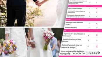 Der Unterschied zwischen Ehe und eingetragener Partnerschaft – in Kürze - watson.ch