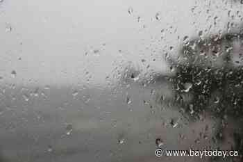 Rainfall warning for this evening and Wednesday