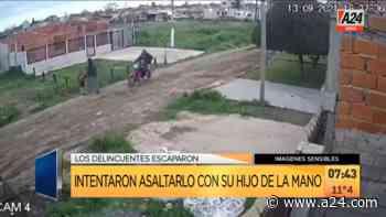 Florencio Varela: motochorros casi lo apuñalan frente al hijo - A24.com
