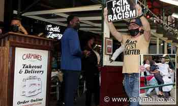 BLM holds 'Cancel Carmine's' protests outside famed Italian restaurant in NYC