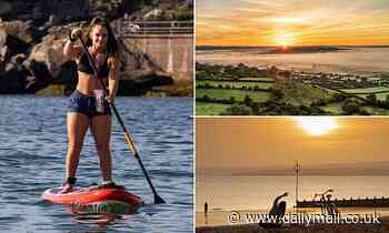 Brits bask in sunshine on the LAST day of summer - ahead of wind and rain set to lash the north