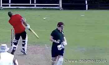 Furious batsman hurls bat at his partner after getting run out in chaotic village match