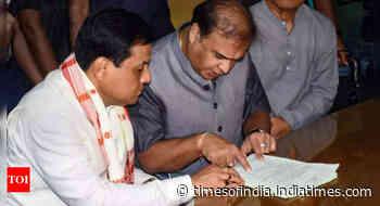 Rajya Sabha bypolls: Union Minister Sarbananda Sonowal files nomination from Assam