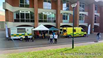 University of Sussex hosts new Covid-19 mobile vaccination unit