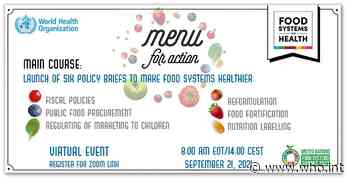 Menu for Action: Food Systems Delivering Better Health - World Health Organization