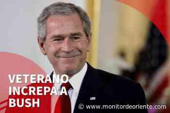 """Un veterano de la guerra de Irak grita a George Bush: """"Nos mentiste"""" - Monitor De Oriente"""