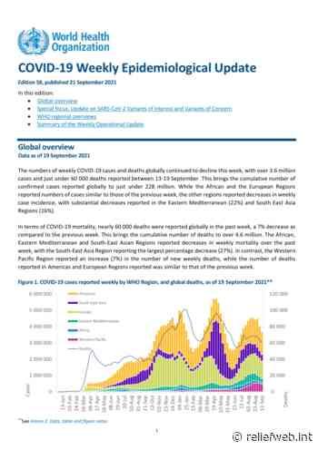 Coronavirus Disease (COVID-19): Weekly Epidemiological Update (21 September 2021) - World - ReliefWeb