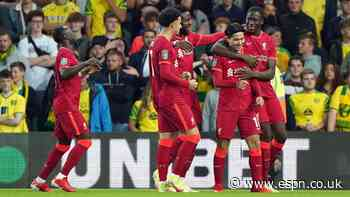 Minamino double sees Liverpool past Norwich City