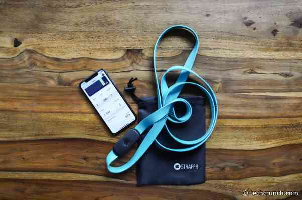 Straffr is a smart resistance band that helps you exercise on the go