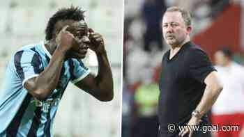 Balotelli celebrates goal by taunting Besiktas manager who said he 'has no brain'