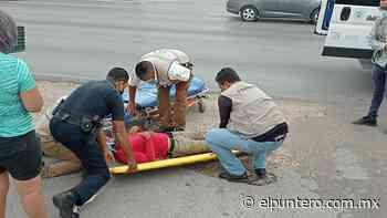 Resulta motociclista lesionado tras choque en la colonia San Rafael - El puntero