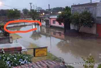 Por obras inconclusas, se formó una laguna en el barrio San Rafael - La Radio de Martin Grande