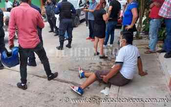 Policía de tránsito es acusado de atropellar a un hombre - El Heraldo de Chiapas