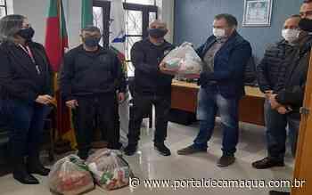 Apenados do Presídio e do Monitoramento de Santa Maria recebem cestas básicas do Município - Portal de Camaquã