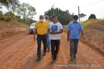 Prefeitura revitaliza 100% das ruas da Vila Santa Maria que fica na estrada do Aeroporto - Prefeitura de Rio Branco