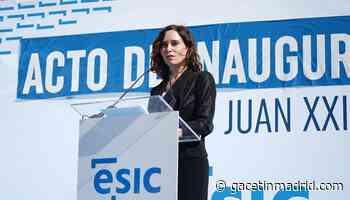 """Ayuso defiende un sistema universitario """"abierto y flexible"""" que """"no ponga zancadillas"""" a la educación privada - Gacetín Madrid"""