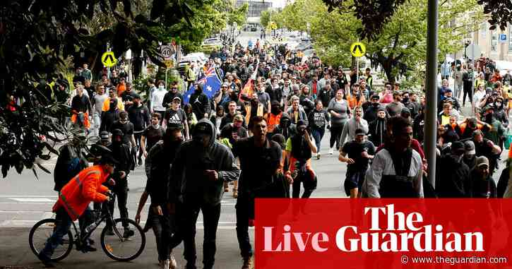 Australia Covid updates live: Melbourne protests continue; mandatory vaccinations for Victorian teachers; NSW records 1,035 cases, five deaths