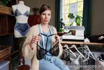 """Nele (29) maakt duurzame pittige lingerie van kleren uit kringloopwinkel: """"Zo krijgen stoffen tweede leven"""""""