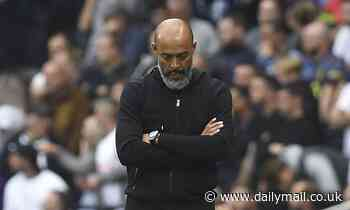 Nuno Espirito Santo says Tottenham's 'many problems' can't be solved on the training ground