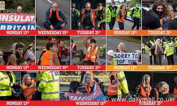 The USUAL suspects: How the SAME shameless eco-anarchists have been blocking the M25 day after day