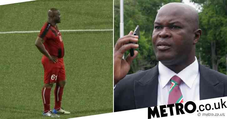 Suriname's 60-year-old vice president picks himself to start crunch cup match; doesn't go well