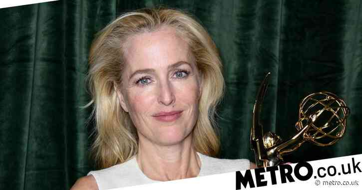 Sex Education star Gillian Anderson presented with enormous NSFW cake after Emmys win: 'Size does matter'