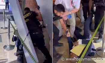 Nevada Lt Gov hopeful violently thrown through metal detector at meeting on COVID-19