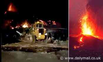 Firefighters battle to divert lava away from homes on La Palma