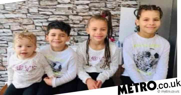 Four children missing for a week 'with dad and grandma'