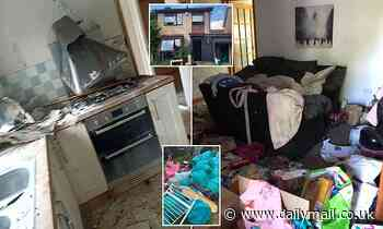 Landlords fill 240 BIN BAGS with trash after winning battle to evict nightmare tenant in Swindon