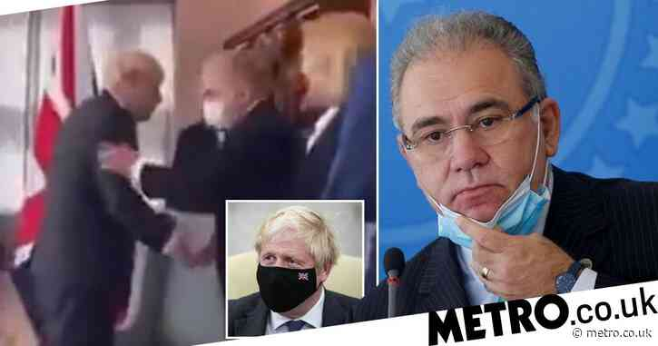 Boris shook hands with Brazil health minister who tested positive for Covid