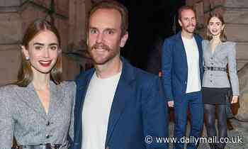 Lily Collins looks stylish in leggy black skirt at Cartier dinner in Berlin