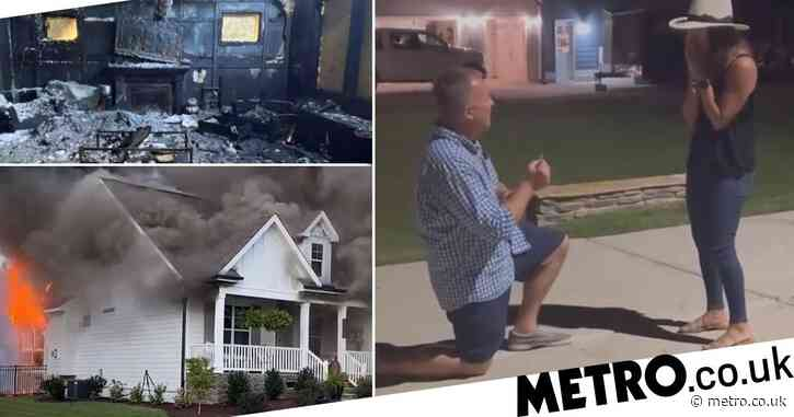 Man proposes on the night his home burnt down – saving the ring from the flames