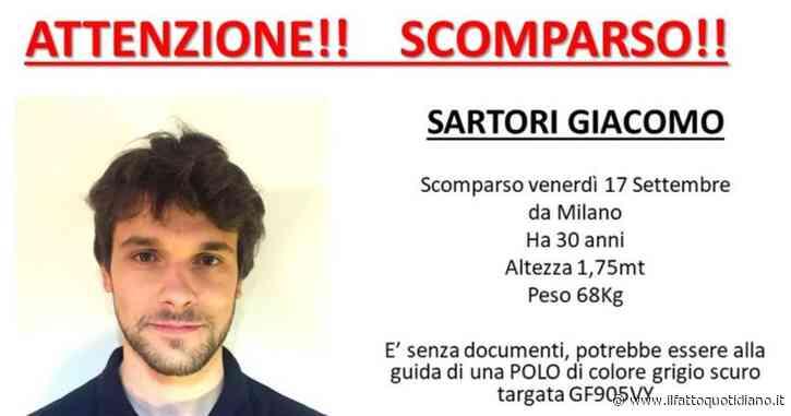 Milano, giovane di 30 anni sparito dopo il furto del suo zaino. Aperta pagina Facebook Missing Giacomo Sartori