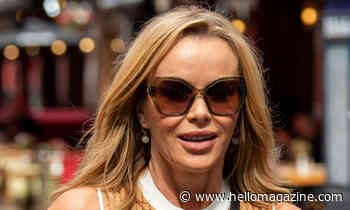 Amanda Holden turns up the glam in leather cut-out dress