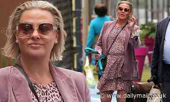Lisa Armstrong looks stylish in a pink leopard dress ahead of Steph's Packed Lunch