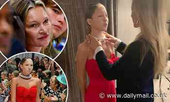 Kate Moss and daughter Lila share tender backstage moment at LFW