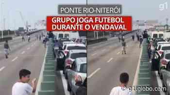 Grupo joga 'altinha' na Ponte Rio-Niterói durante interdição - G1