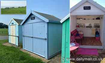 Cliff-top beach hut with uninterrupted sea views goes on the market for a whopping £45,000