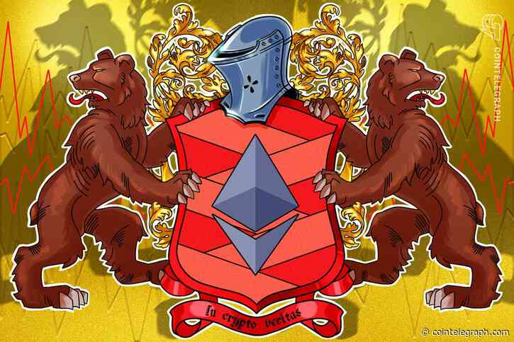 Ethereum 'head & shoulders' chart pattern puts ETH price at risk of dropping to $2K - Cointelegraph