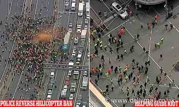 Police backflip on controversial decision to GROUND media choppers for covering Melbourne protesters