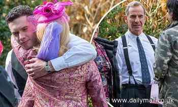 Grantchester's Tom Brittney and Robson Green say emotional goodbyes as they film final ever scenes