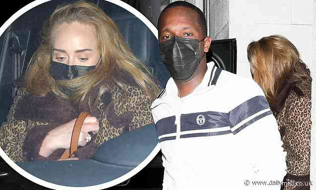 Adele and boyfriend Rich Paul sneak out the back exit of swanky Beverly Hills restaurant - Daily Mail